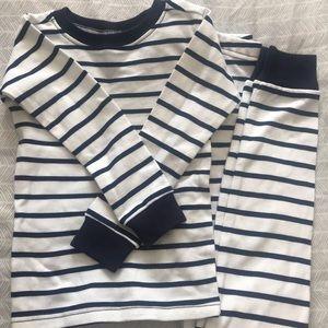 Sweet Peanut 5T Pajamas in Navy Stripe